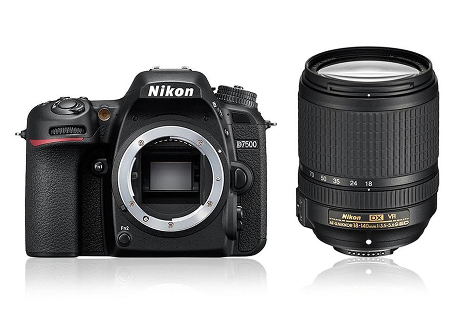 Câmera Nikon D7500 + Objetiva AF-S DX NIKKOR 18-140mm f/3.5-5.6G ED VR