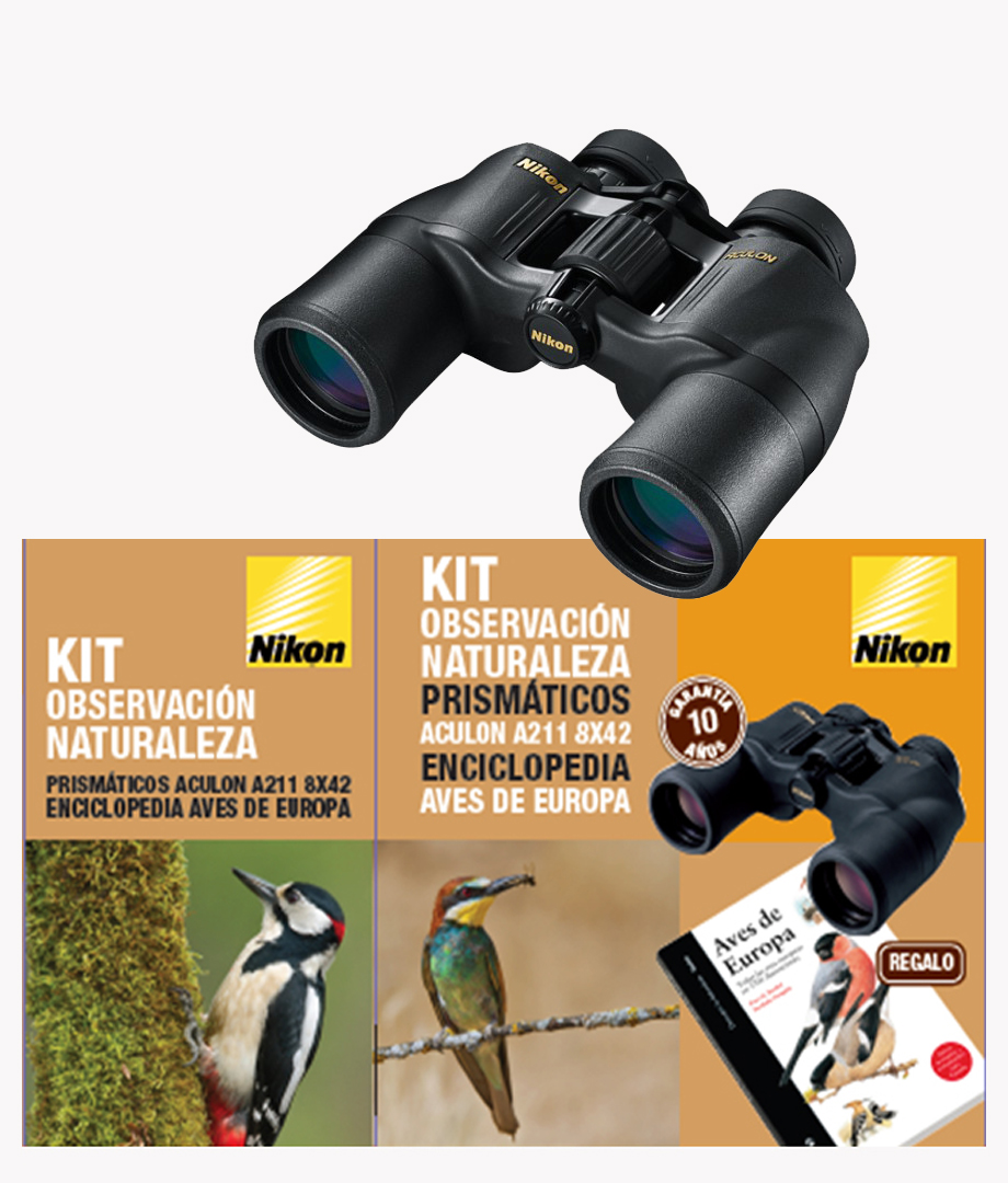 Kit Observación Naturaleza  Nikon ACULON 8x42 A211