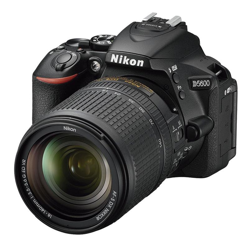 Câmera Nikon D5600 + Objetiva AF-S DX NIKKOR 18-140mm f/3.5-5.6G ED