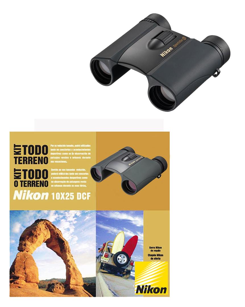 Kit Todo-o-Terreno Binóculos Nikon SPORTSTAR EX 10x25 DCF WP