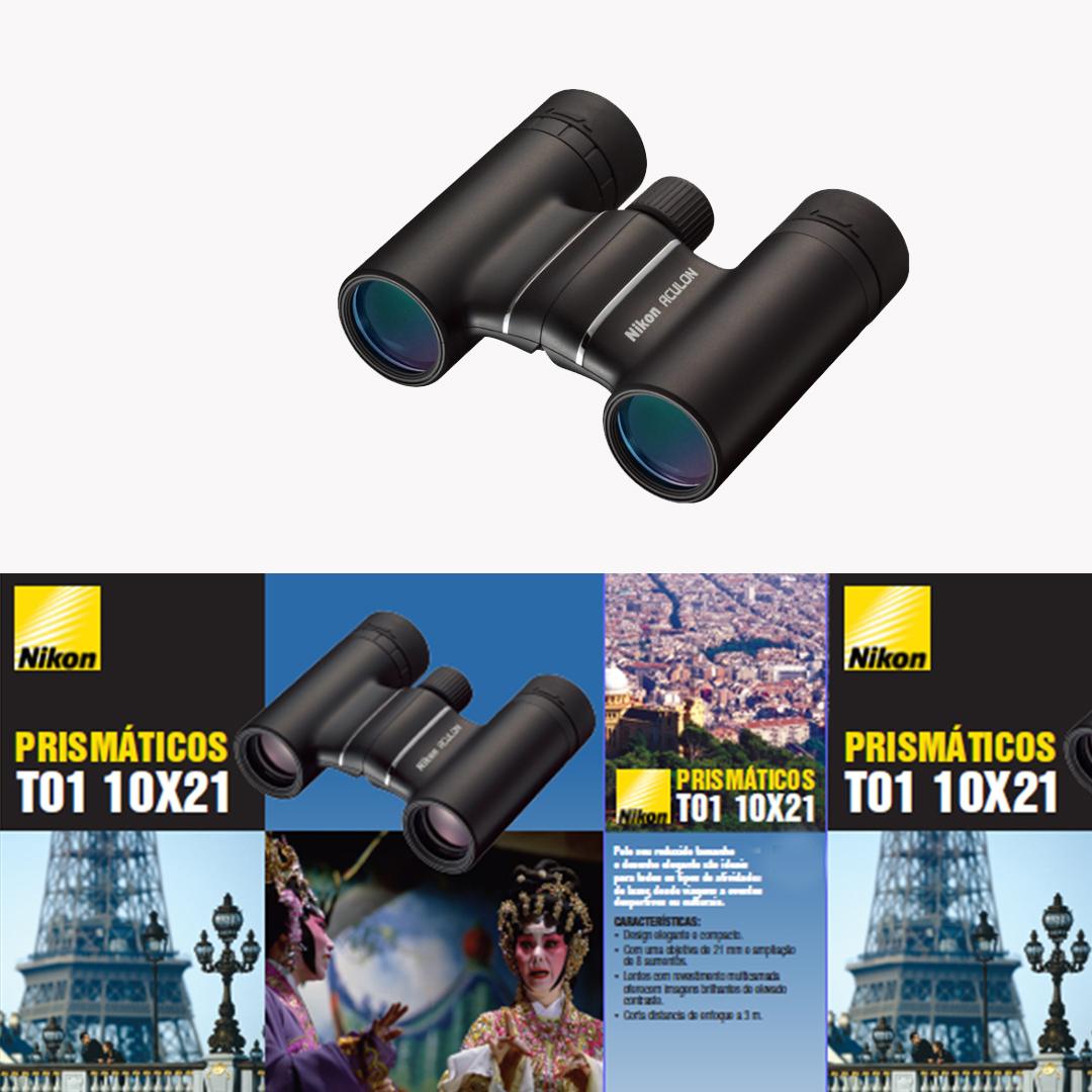 Kit Travel Binóculos Nikon ACULON T01 10X21