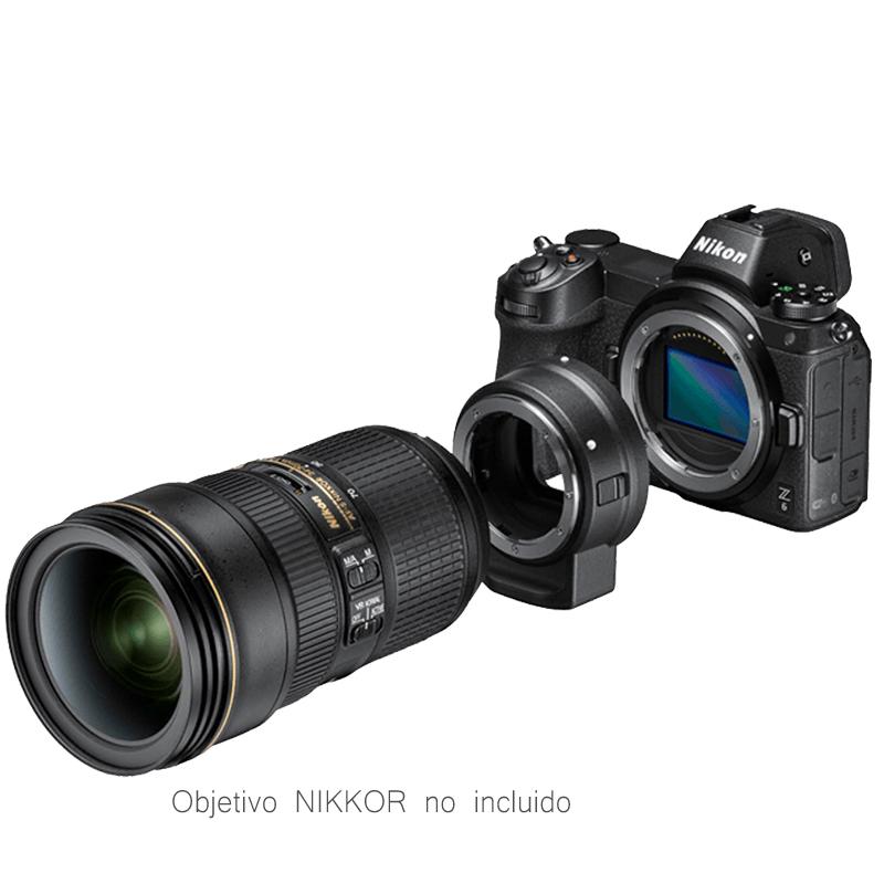 Nikon Z6 + NIKKOR Z 24-70mm f/4 S + Adaptador FTZ