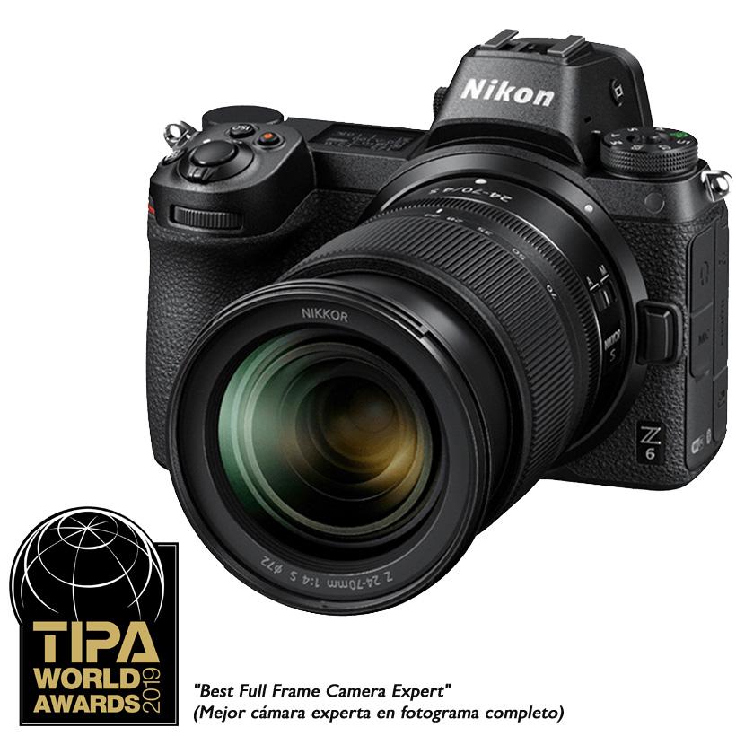 Câmera Nikon Z 6 + Objetiva NIKKOR Z 24-70mm f/4 S