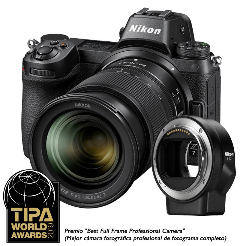 Câmera Nikon Z 7 + Objetiva NIKKOR Z 24-70mm f/4 S + Adaptador FTZ