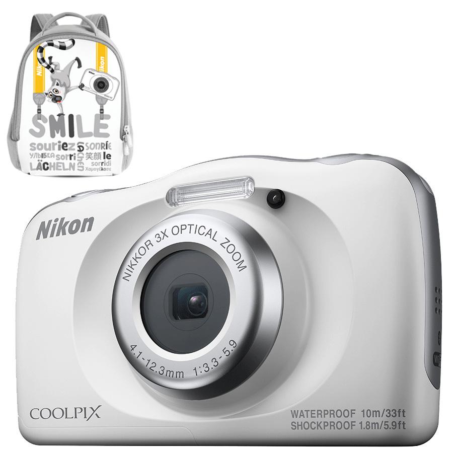 Câmera Nikon COOLPIX W150 White + Mochila