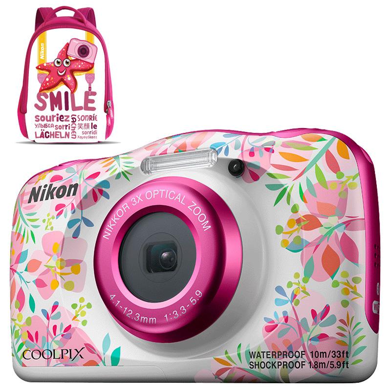 Câmera Nikon COOLPIX W150 Flowers + Mochila