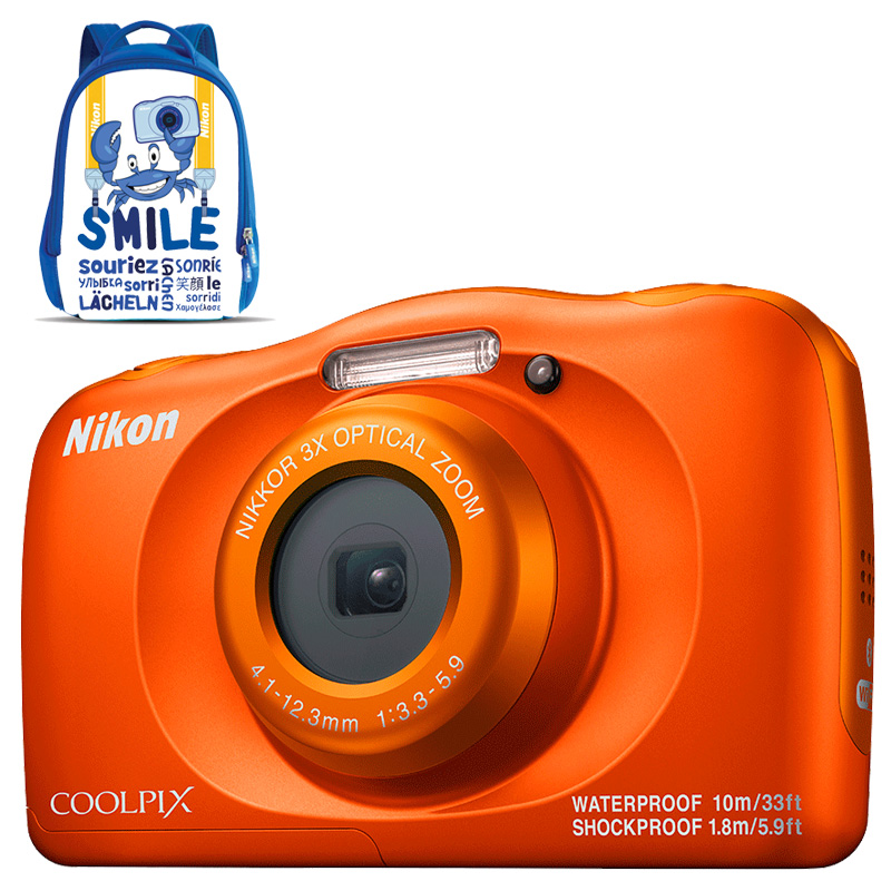 Câmera Nikon COOLPIX W150 Orange + Mochila
