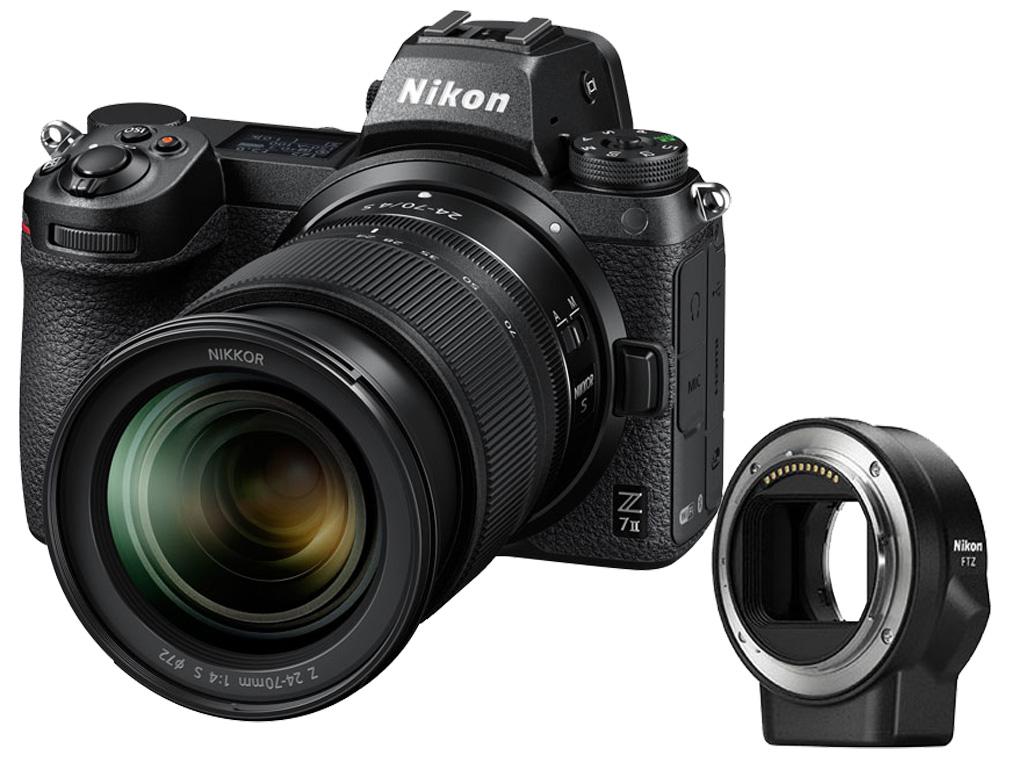 Câmera Nikon Z 7II + NIKKOR Z 24-70 S + Adaptador FTZ