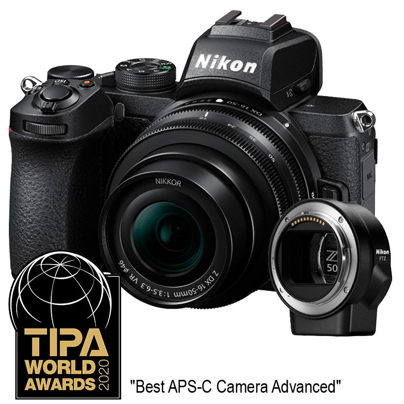 Câmera Nikon Z 50 + Objetiva NIKKOR Z DX 16-50mm f3.5-6.3 VR +FTZ