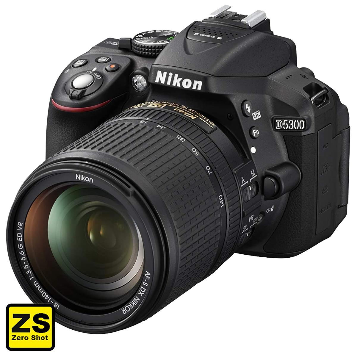 Câmera Nikon D5300 + Objetiva AF-P DX NIKKOR 18-140mm f/3.5-5.6G VR (Zero Shot)