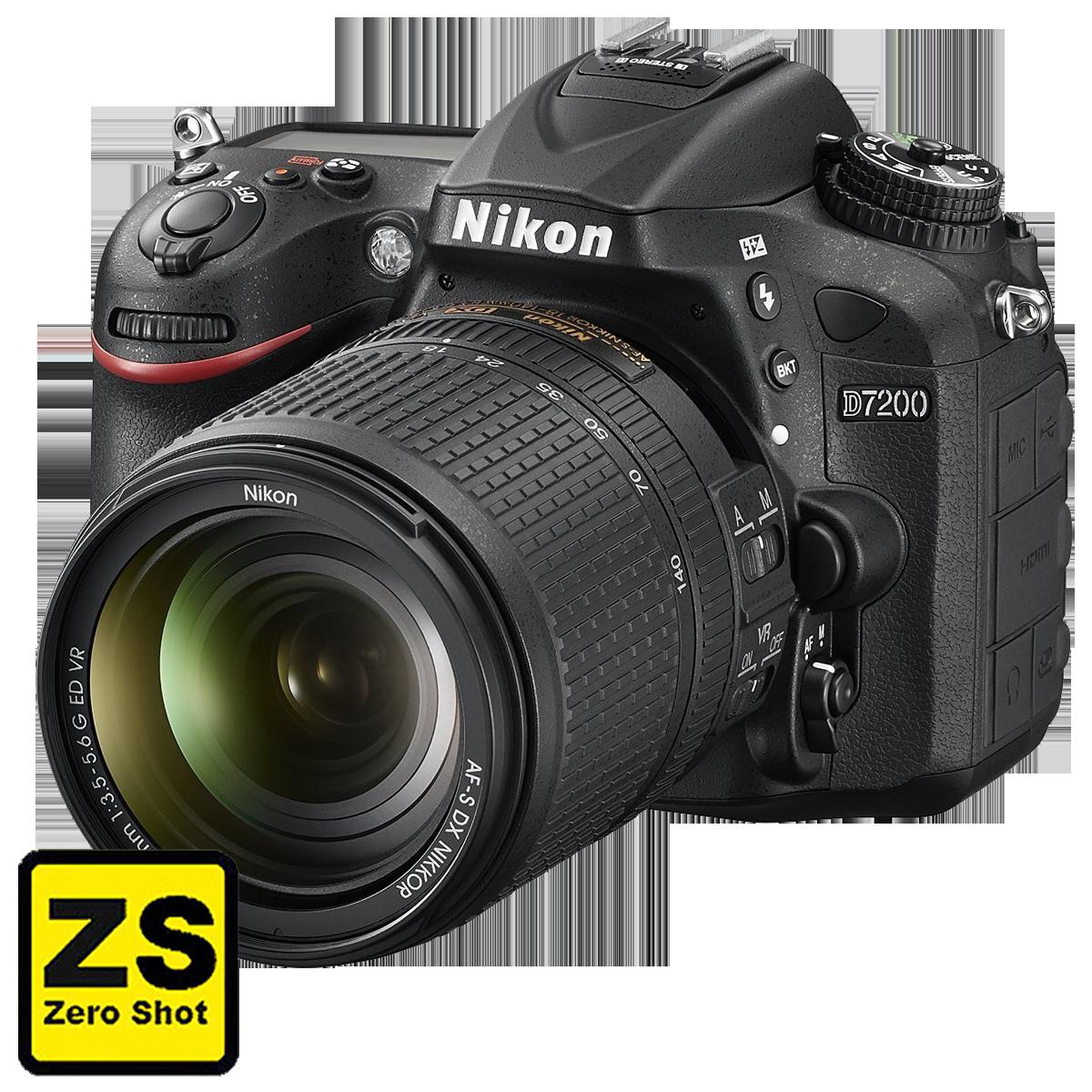 Câmera Nikon D7200 + Objetiva NIKKOR 18-140 AF-S f/3.5-5.6G ED VR (Zero Shot)